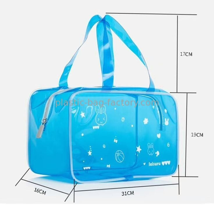 Translucent PVC Tote Beach Bag Semitransparent Vinyl Toiletry Pouch Swim Beach Bag Travel Organizer Pouch Ideal for Beach