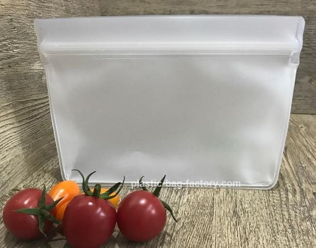 Stand-Up EVA Reusable Snack Food Bag Airtight Seal Fresh-keeping Food Storage Bag