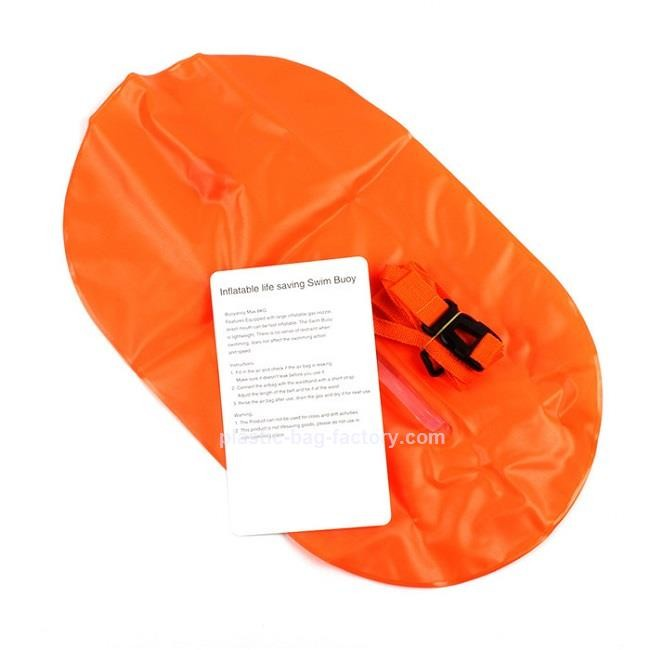 Inflatable Floating Dry Bag Aid Safe Buoy Bag Light Weight Swim Buoy Dry Bag For Triathletes