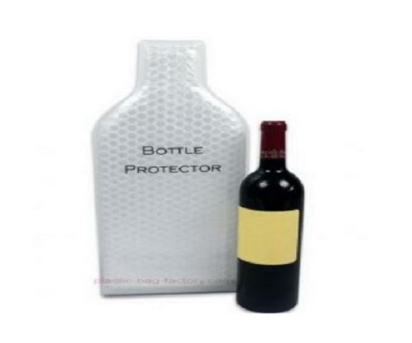 Leak-Proof Wine Bubble Bag Carrier Reusable Wine Bottle Protector With Interior Air Bubble Cushion