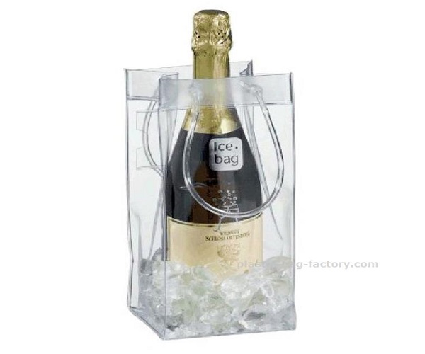 Transaprent Wine Cooler Bag Lightweight Champagne Carrying Bag with Handles