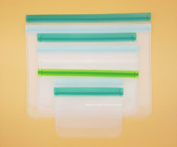 Durable Leakproof Food Storage Ziplock Bag Reusable Freezer Snack Bags