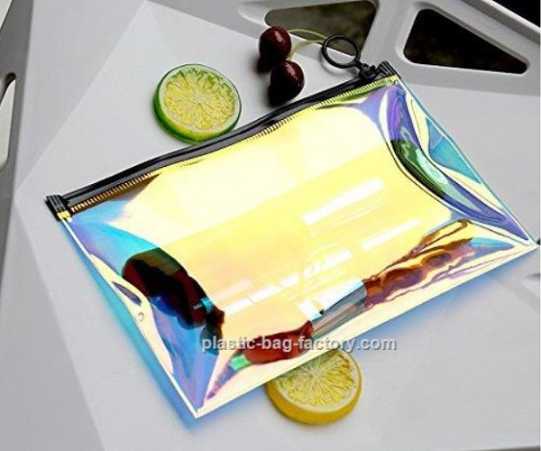 Holographic Clear PVC Cosmetic Makeup Bag Holographic Lady Travel Storage Bag