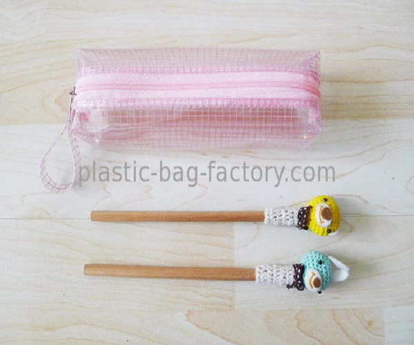Waterproof Meth PVC Pencil Pouch Lovely PVC Stationery Zipper Organizer Pouches