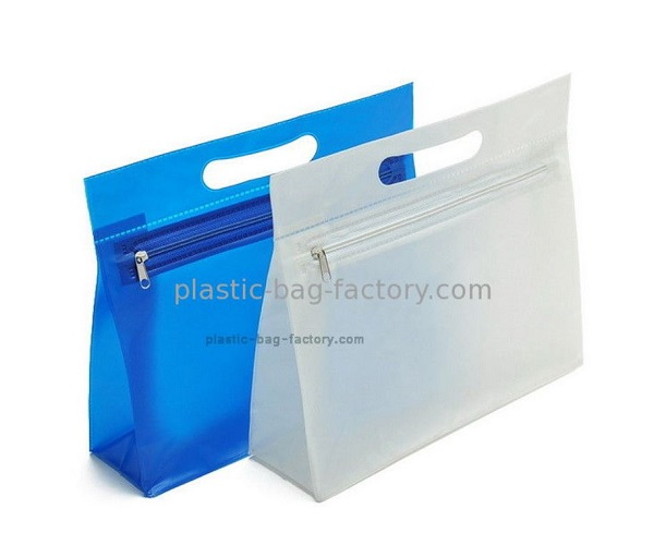 Multipurpose EVA Plastic Ziplock Pouches Reusable Cosmetic Zipper Bags with Cutting Hole Handle