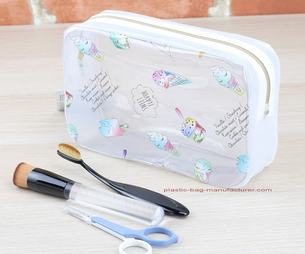 Clear PVC Toiletry Carry Bag PVC Cosmetic Bag Clear Wash Bag Organizer Pouch