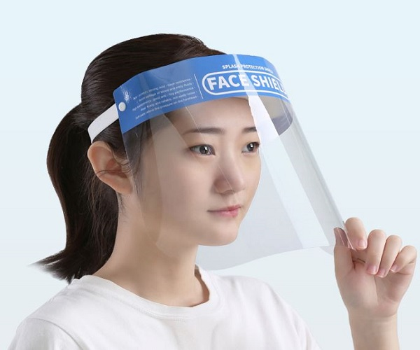 Anti-Droplets Plastic Face Shield Anti-Saliva Protective Face Shield
